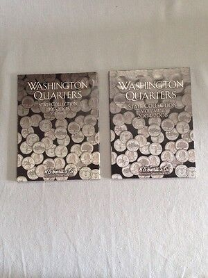 Washington Quarters State Collection Books Volume 1 And 2 1999-2003 2004-2008