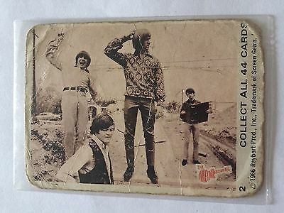1966 SCANLENS The Monkees Collectible Card #2