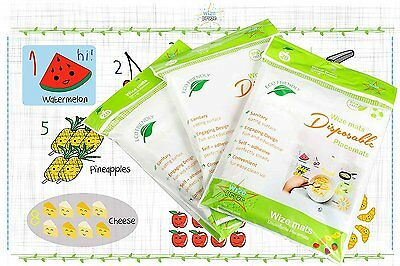 Disposable Baby Placemats Table Topper 60 Ct Stick On Mat Ideal for Children BPA