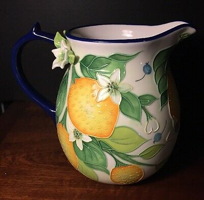 Jeanette McCall Blue Sky Clayworks Lemon Pitcher 2006 Icing On The Cake