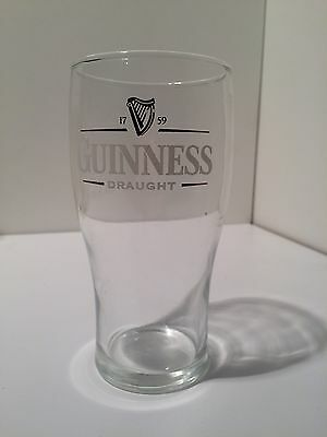 Retro Guinness Draught Beer Glass Collectable Advertising