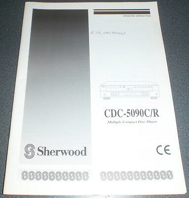 SHERWOOD CDC-5090C/R Multiple Compact Disc Operating Instructions / Manual