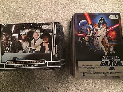 2017 Topps Star Wars 40th Anniversary 200 card Base Set
