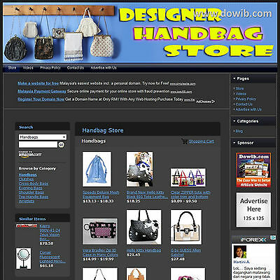 Established Designer Handbag Affiliate Business Website For Sale! Free Domain!