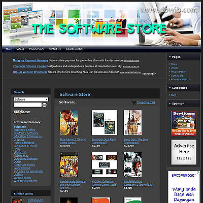 Established PC Software Store Affiliate Business Website For Sale, Free Domain!