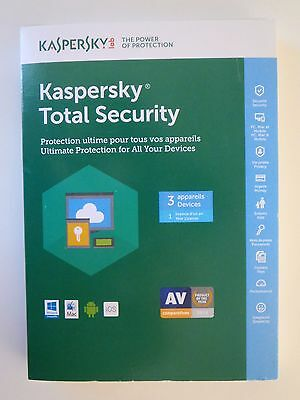 Kaspersky Total Security 3 Devices 1 Year 2017-2018