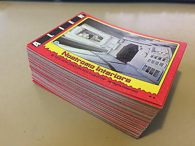 Alien the Movie - Trading Card LOT of 80 - 1979 TOPPS - NM