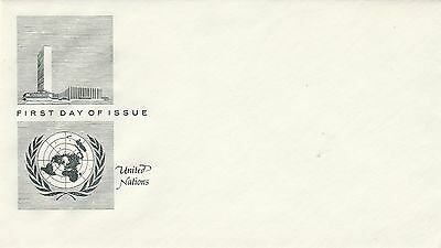 United Nations First Day Cover without stamps UN Building Un-used