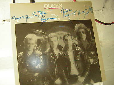 Queen Signed Lp The Game Grey Cover Freddie Mercury X4 1980 Brian May