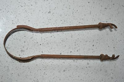Vintage ice grabbers tongs