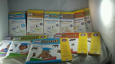 HUGE Lot Your Baby Can Read DVD Slide Learn Flap Books Word Cards Starter Review