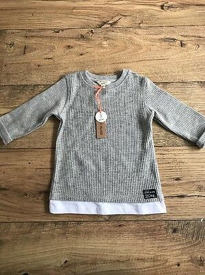 River Island Mini Boys Grey Jumper New With Tags  Size 12-18 Months