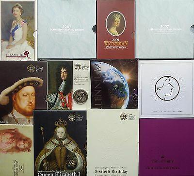 Royal Mint £5 Crown Brilliant Uncirculated Presentation Pack - Choose Your Year