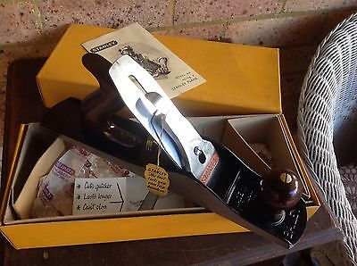 Vintage Stanley No 5 Wood Plane In Box. Never Used. Made In England