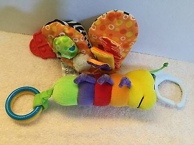Lamaze Plush Butterfly Activity Soft Toy Hangable Crackle Rattle Teether Squeaks