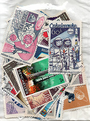 Space Stamps - 60+ - Mixed Countries.