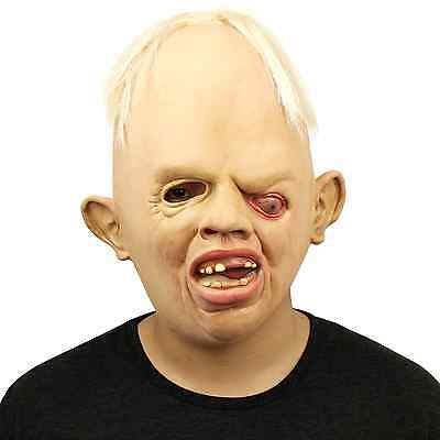Novelty Latex Rubber Creepy Scary Ugly Baby Head the Goonies Sloth Mask Party