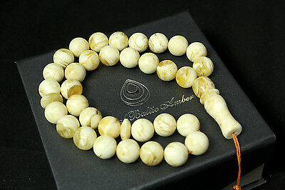 Baltic Amber Misbaha Muslim Rosary Islam Unique look - 20,6g  Succinite Prayer