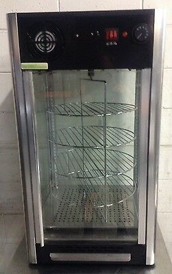 FED Commercial ROTATING PIZZA Pie Food Warmer Hot Display Showcase Cabinet