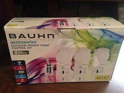 set of 3 Bauhn Wireless Remote Outdoor Home Power Point Control Kit Outlet