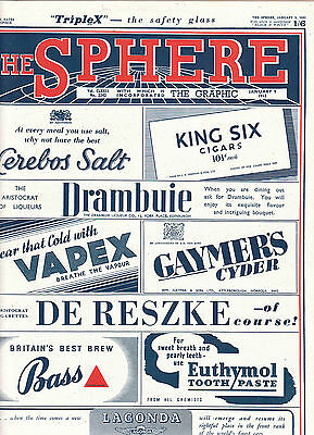 The Sphere 9 January 1943 No 2242 Greys Cigarettes ad Guadalcanar pictures