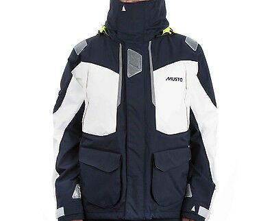 Musto Smjk052 Br2 Offshore Jacket Navy/white Giacca Cerata Offshore