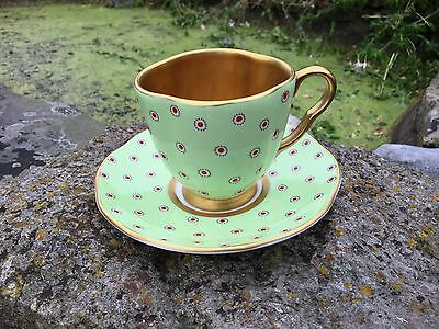 Wedgwood Gold Harlequin Cup And Saucer, Gilded Cabinet Cup, Wedgwood Demitasse