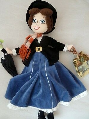 "Disney Store Exclusive Mary Poppins Soft Doll Plush 21"" Tall"