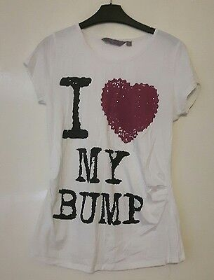 new look maternity t shirt size 14 i love my bump