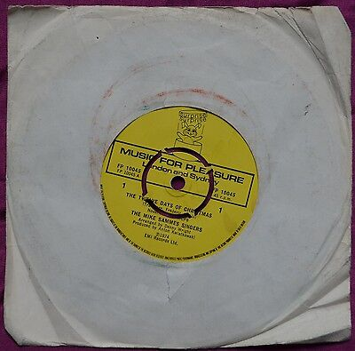 """The Mike Sammes Singers – The Twelve Days Of Christmas 7"""" – FP 10045 – VG-"""