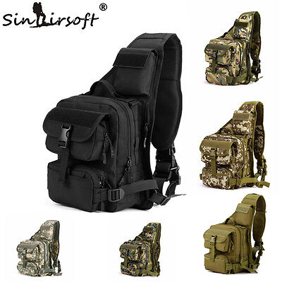 Molle Military Tactical Sling Chest Bag Travel Hiking Messenger Shoulder Bag