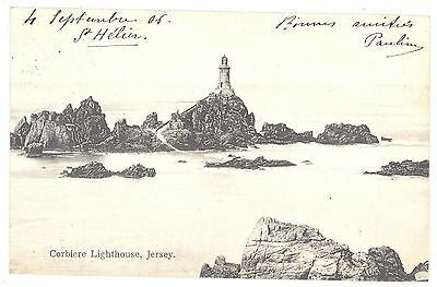 CPA ROYAUME UNI - GB - JERSEY - Corbiere Lighthouse