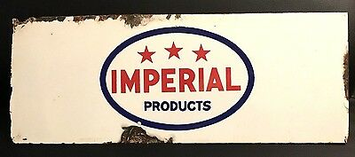 Early Imperial Products 3 Star Porcelain Gas Oil Canadian Sign Esso Pump Rack
