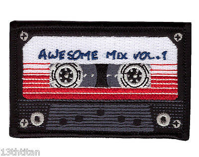 Iron on patch Awesome mix Tape Galaxy Guardians Retro Classic Morale tactical