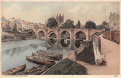 Hereford, The Wye Bridge, boats, pont