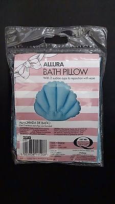 NEW Bath Pillow BLUE SHELL shape with 2 suction cups