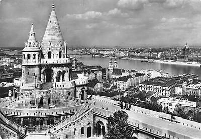 Hungary Budapest View with the Fisher's Bastion River Bridge