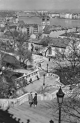 Hungary Budapest View from the Fisher's Bastion Stairway General view Bridge