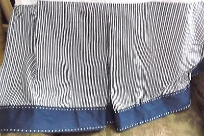 Pottery Barn Kids Crib Bed Skirt, Blue & White Stripe