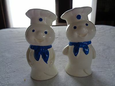 Vintage Pillsbury Doughboy Salt And Pepper Shakers