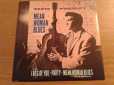 "1989 ELVIS PRESLEY 12"" Single Pic Sleeve MEAN WOMAN BLUES / I BEG OF YOU / PARTY"
