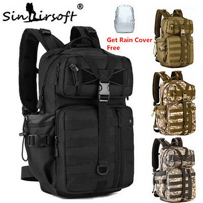 Military Tactical Molle Backpack Rucksack Hiking Trekking Camping Bag Outdoor