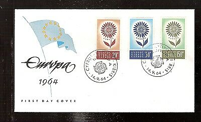 20) Greece CYPRUS First Day Cover FDC Europa CEPT 1964