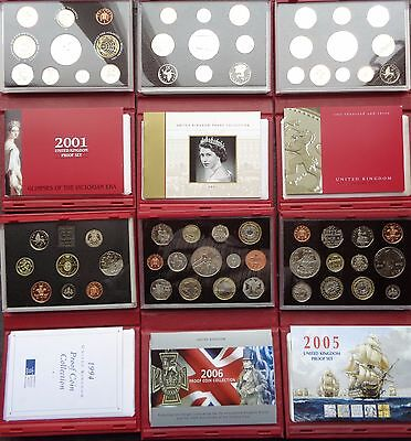 1994-2006 Royal Mint Proof Coin Set Red Deluxe Choose Your Year
