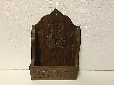 Wooden Hand Carved Letter Wall Rack Pre Owned