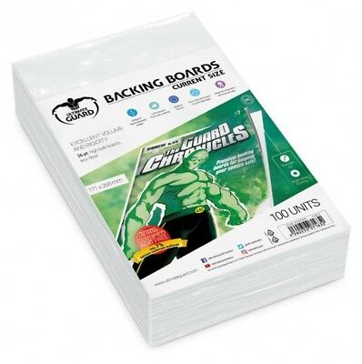 Ultimate Guard backboards Comics Current Size (100) lot 100 backing boards 71632
