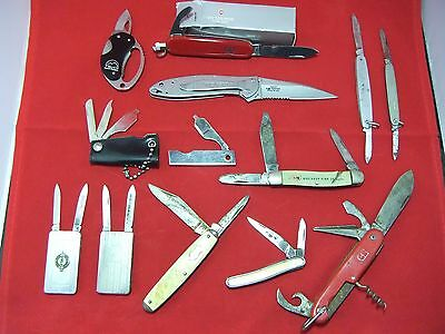 13 Vintage Pocket Knives Collection Kershaw Imperial Utica Colonial Buck Anvil +