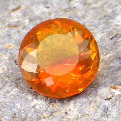FIRE OPAL-OREGON 1.43Ct FLAWLESS-NATURAL ORANGE RED COLOR-FOR JEWELRY!