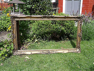 Large French Antique Style Picture Frame Ideal Wedding Plan (At47)