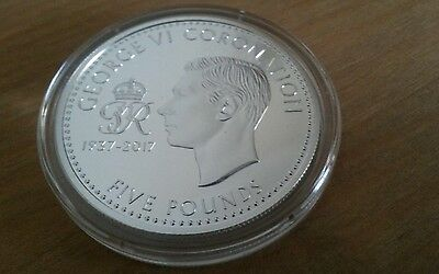 King George Vi  Five Pound £5 Coin 1937-1917